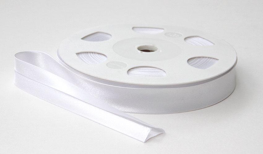 Satiinivinonauha lev. 20mm valkoinen (FU14V), Ompelutarvikkeet, Satiininauhat