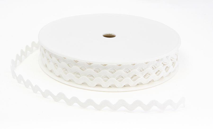SIKSAK-nauha lev. 11 mm Valkoinen (918110), Ompelutarvikkeet, Nauhat ja nyörit