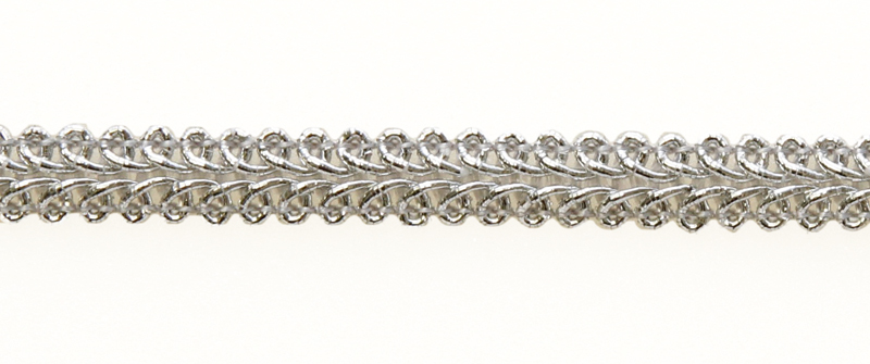 KORISTENAUHA Silmukka hopea (DT047HV), Ompelutarvikkeet, Nauhat ja nyörit