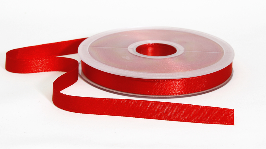 Tuplasatiininauha 10mm Punainen 982471, Ompelutarvikkeet, Satiininauhat