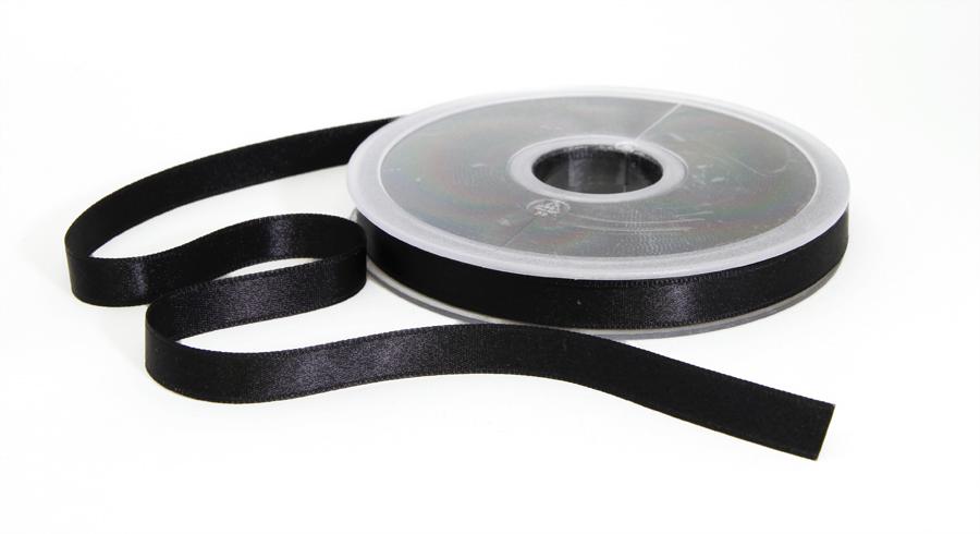 Tuplasatiininauha 15mm Musta 982500, Ompelutarvikkeet, Satiininauhat