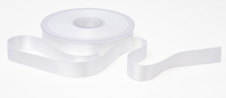 Tuplasatiininauha 25mm Valkoinen 982710, Ompelutarvikkeet, Satiininauhat