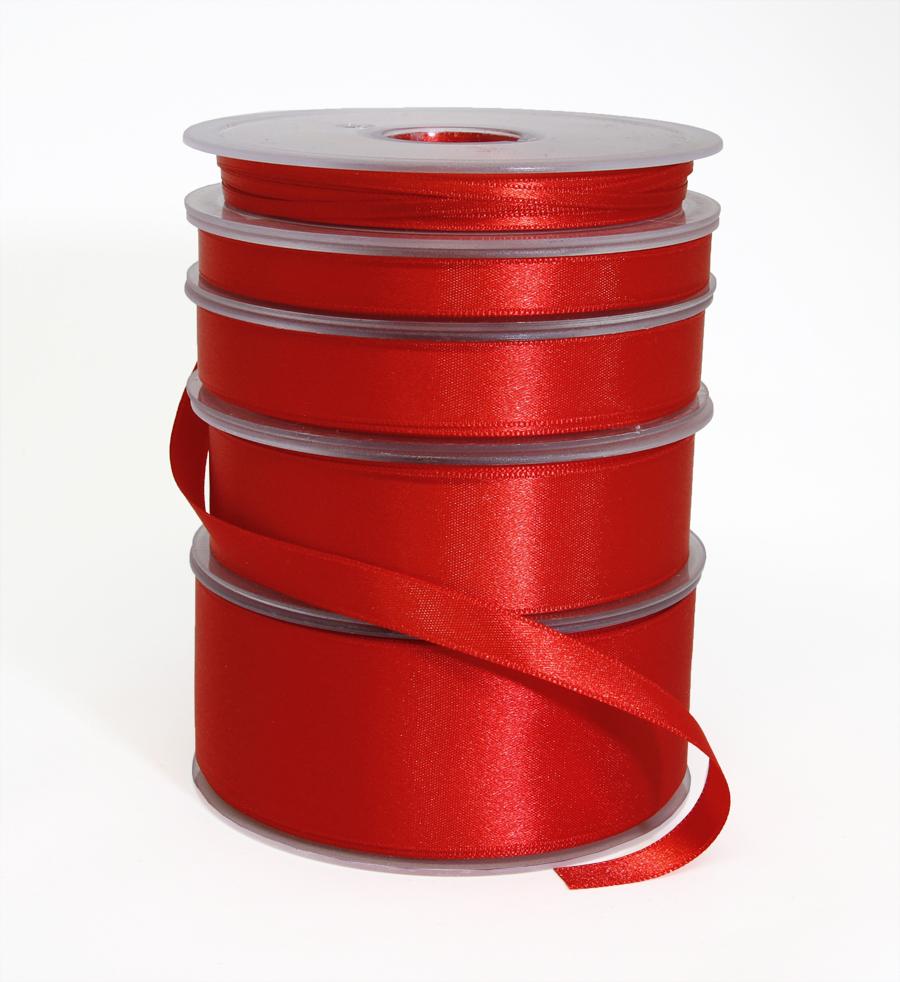 Tuplasatiininauha 38mm Punainen 982871, Ompelutarvikkeet, Satiininauhat