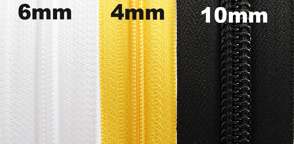 Vetoketju metreittäin, 6mm Valkoinen (FR24V), Ompelutarvikkeet, Vetoketjut, metriketjut